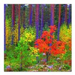 Fall colors Square Car Magnet 3