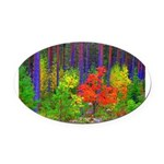 Fall colors Oval Car Magnet