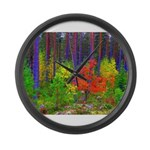 Fall colors Large Wall Clock