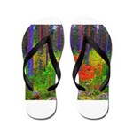 Fall colors Flip Flops