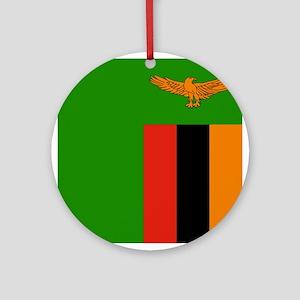 Flag of Zambia Ornament (Round)
