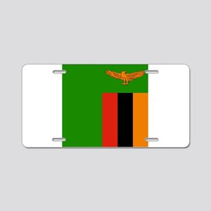 Flag of Zambia Aluminum License Plate