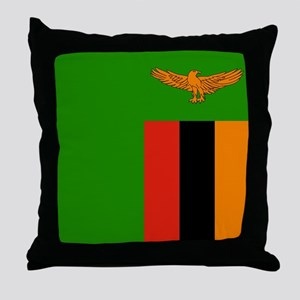 Flag of Zambia Throw Pillow
