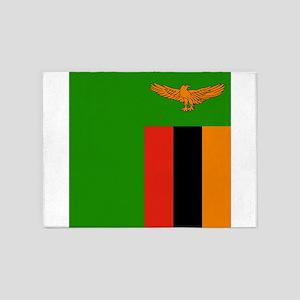 Flag of Zambia 5'x7'Area Rug