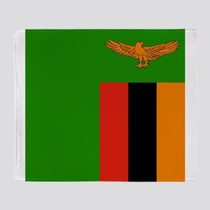 Flag of Zambia Throw Blanket