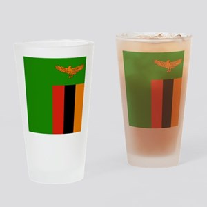 Flag of Zambia Drinking Glass