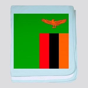 Flag of Zambia baby blanket