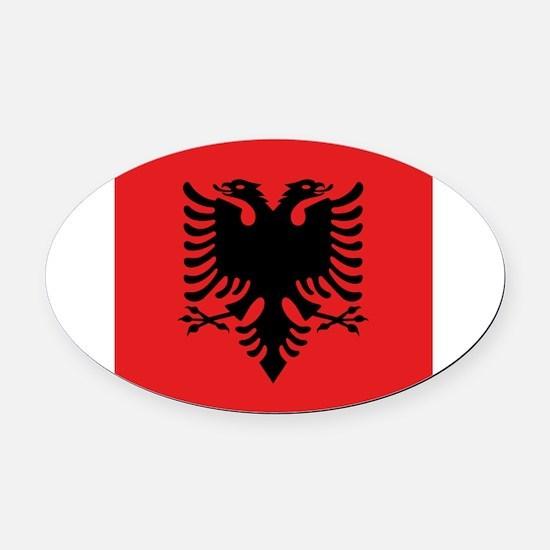 Flag of Albania Oval Car Magnet