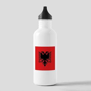 Flag of Albania Sports Water Bottle