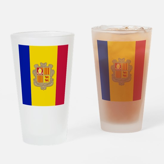 Flag of Andorra Drinking Glass