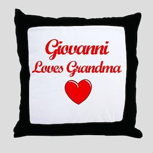 Giovanni Loves Grandma Throw Pillow