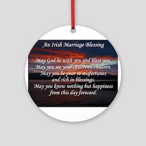 Irish Marriage Blessing Ornament (Round)