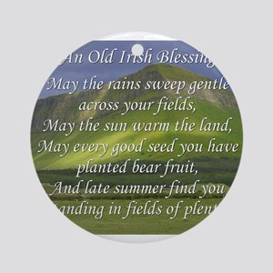 Old Irish Blessing #5 Ornament (Round)