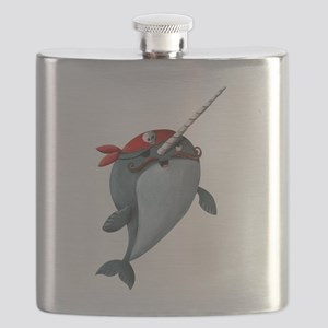 Pirate Narwhals Flask