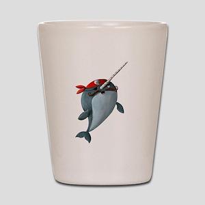 Pirate Narwhals Shot Glass