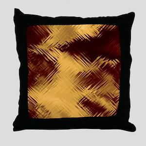 Dark Red Glass Throw Pillow