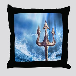 Poseidons Trident Throw Pillow