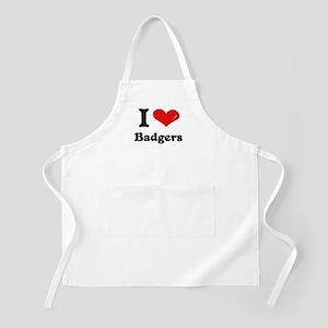 I love badgers  BBQ Apron
