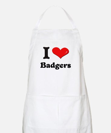 I love badgers  BBQ Apron