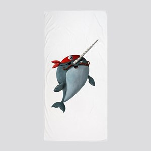 Pirate Narwhals Beach Towel