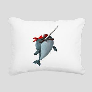 Pirate Narwhals Rectangular Canvas Pillow
