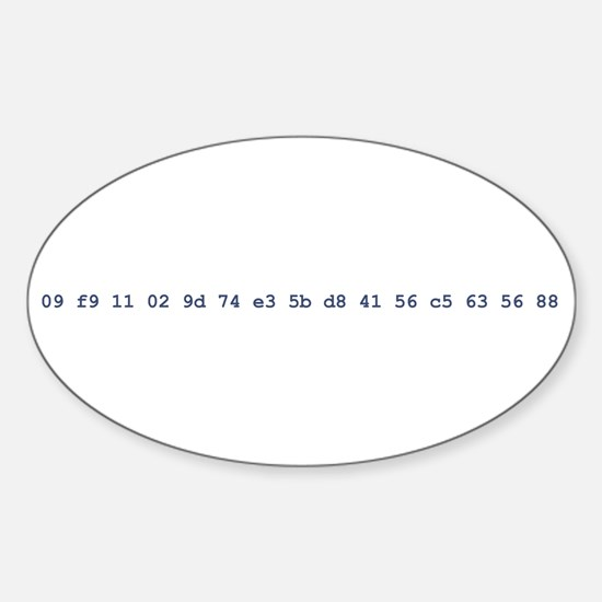 hd dvd code Oval Decal