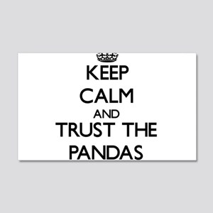 Keep calm and Trust the Pandas Wall Decal