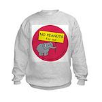 NO PEANUTS for me - allergy a Kids Sweatshirt