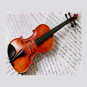 Violin Musician Throw Blanket