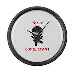 Ninja Consultant Large Wall Clock