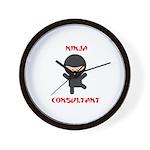 Ninja Consultant Wall Clock