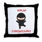 Ninja Consultant Throw Pillow