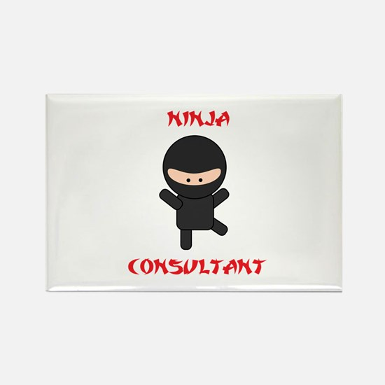 Ninja Consultant Rectangle Magnet