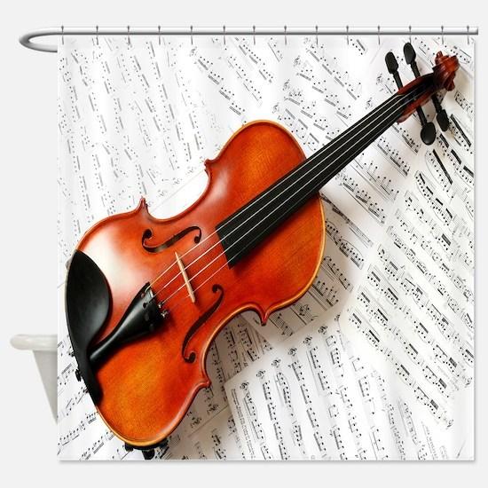 Violin Musician Shower Curtain