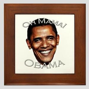Oh Mama! Barack Obama Framed Tile