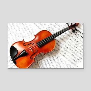 Violin Musician Rectangle Car Magnet