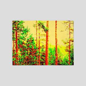 Sunny forest 5'x7'Area Rug