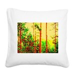 Sunny forest Square Canvas Pillow