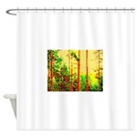 Sunny forest Shower Curtain