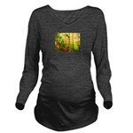 Sunny forest Long Sleeve Maternity T-Shirt