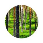 Pine forest Ornament (Round)