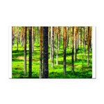 Pine forest Rectangle Car Magnet