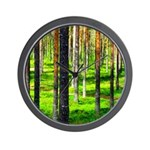 Pine forest Wall Clock