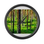 Pine forest Large Wall Clock