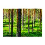 Pine forest 5'x7'Area Rug