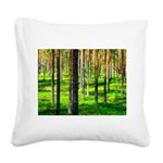 Pine forest Square Canvas Pillow