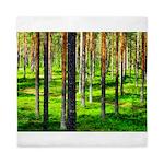 Pine forest Queen Duvet