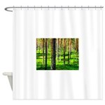Pine forest Shower Curtain