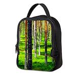 Pine forest Neoprene Lunch Bag
