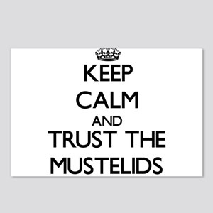 Keep calm and Trust the Mustelids Postcards (Packa